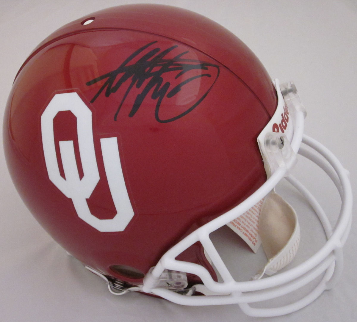 Adrian Peterson Oklahoma Sooners Autographed Full Authentic Helmet