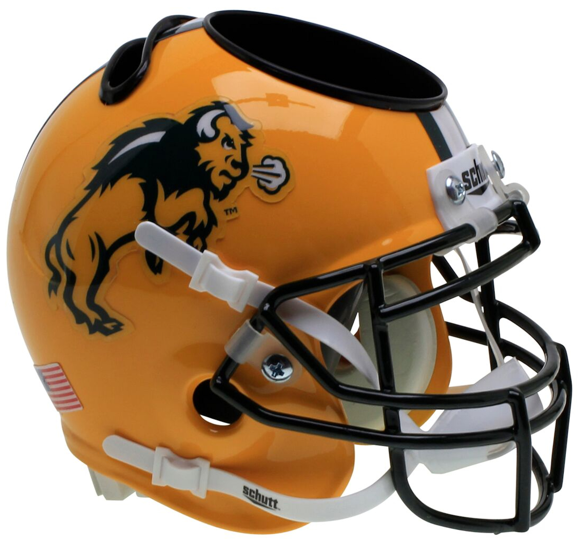 North Dakota State Bison Mini Football Helmet Desk Caddy