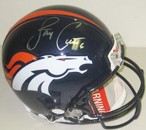 Jay Cutler Denver Broncos Autographed Full Size Authentic Riddell Helmet