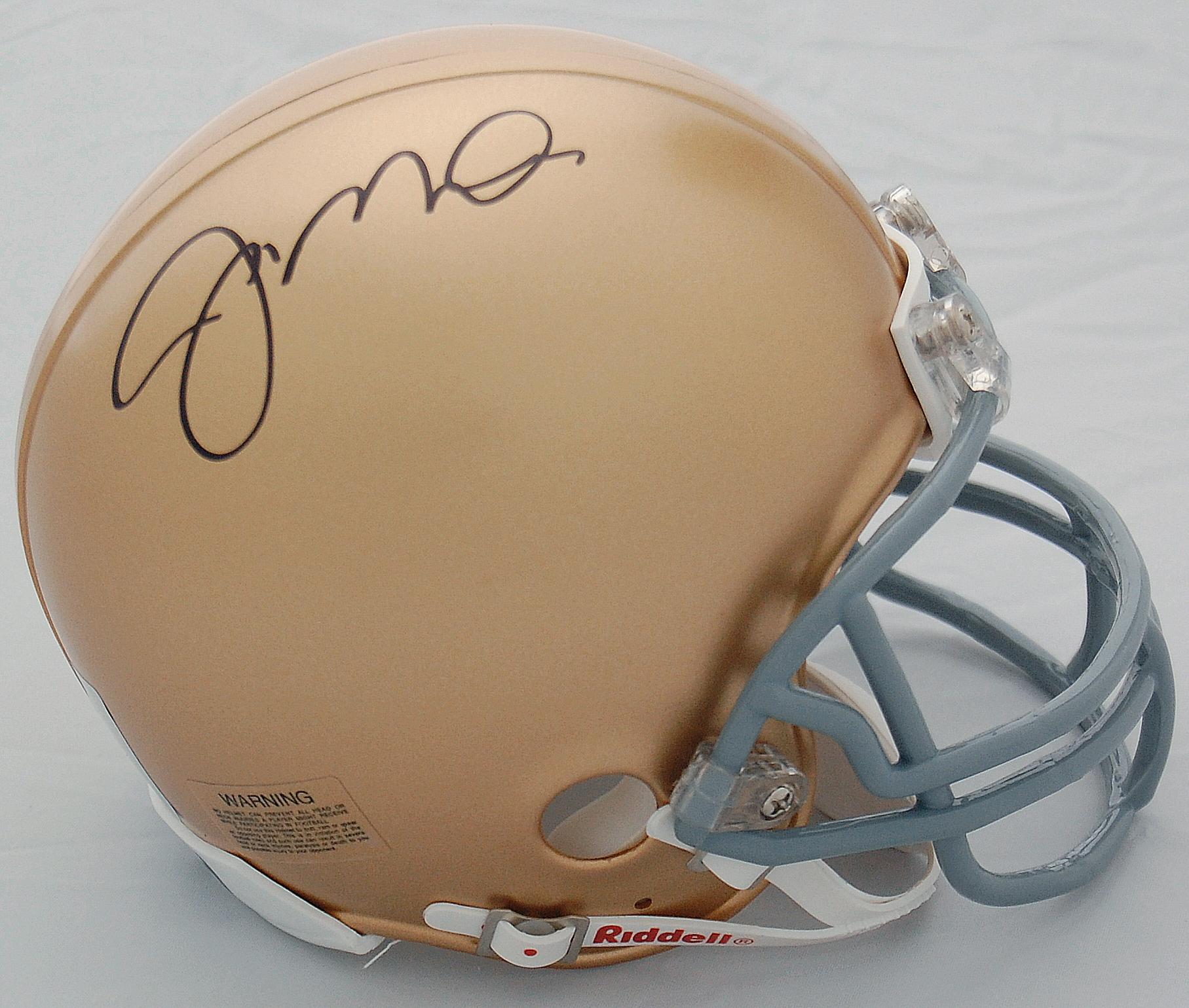 Joe Montana Notre Dame Fighting Irish Autographed Mini Helmet