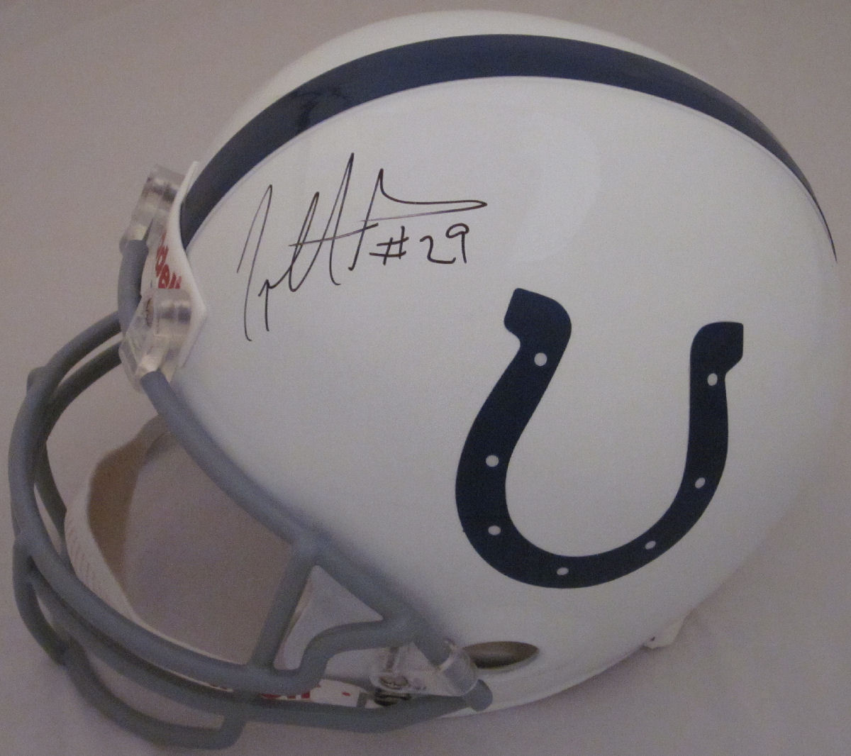 Joseph Addai Indianapolis Colts Autographed Riddell Full Size Replica Helmet