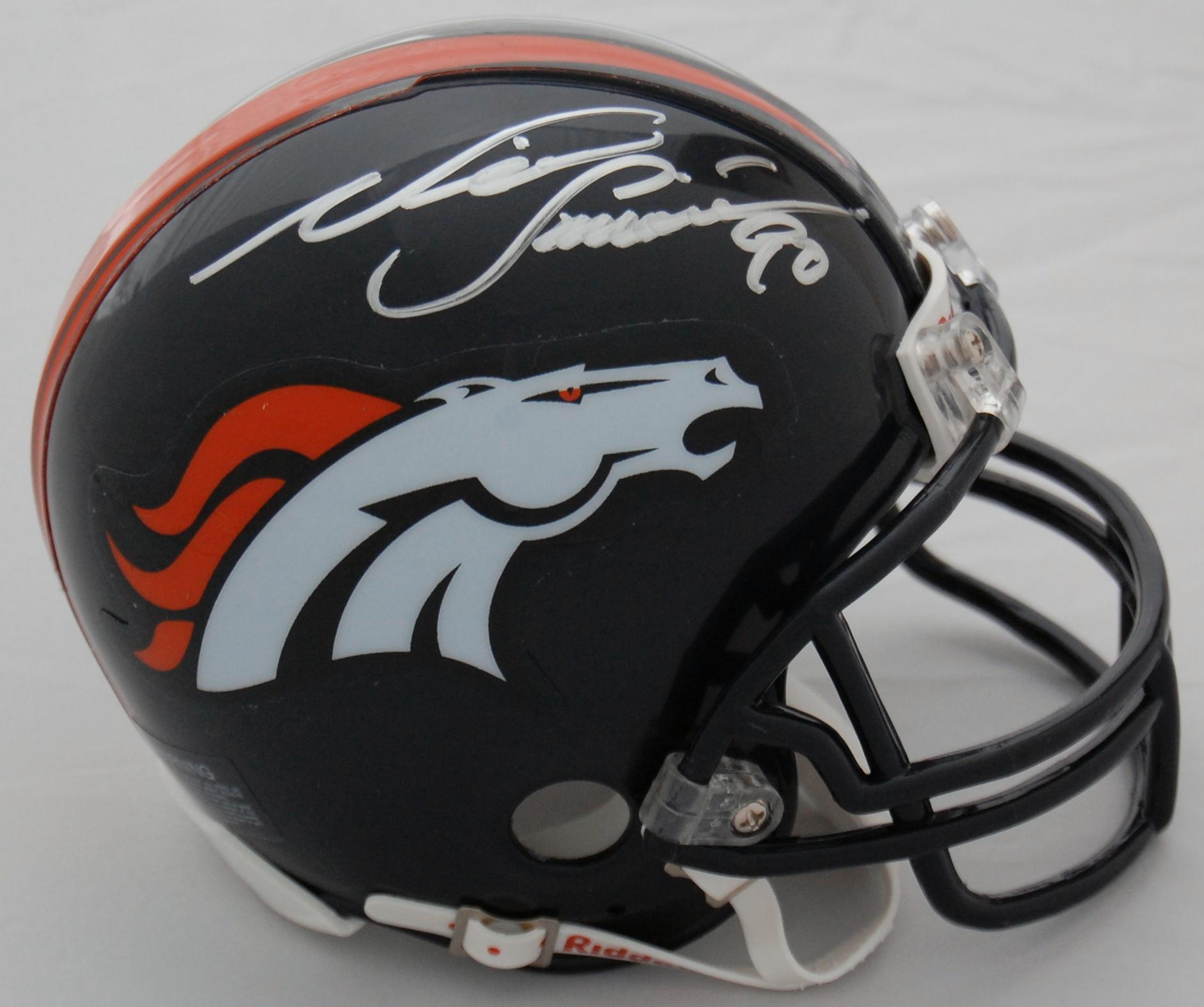 Neil Smith Denver Broncos Autographed Mini Helmet