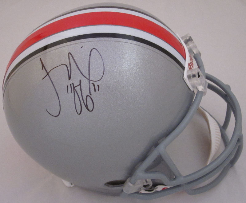 Troy Smith Ohio St. Buckeyes Autographed Full Size Replica Helmet