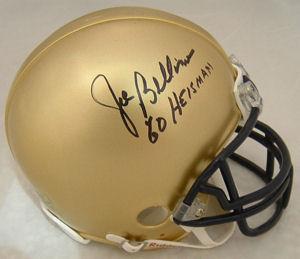 Joe Bellino Navy Midshipman Autographed Mini Helmet