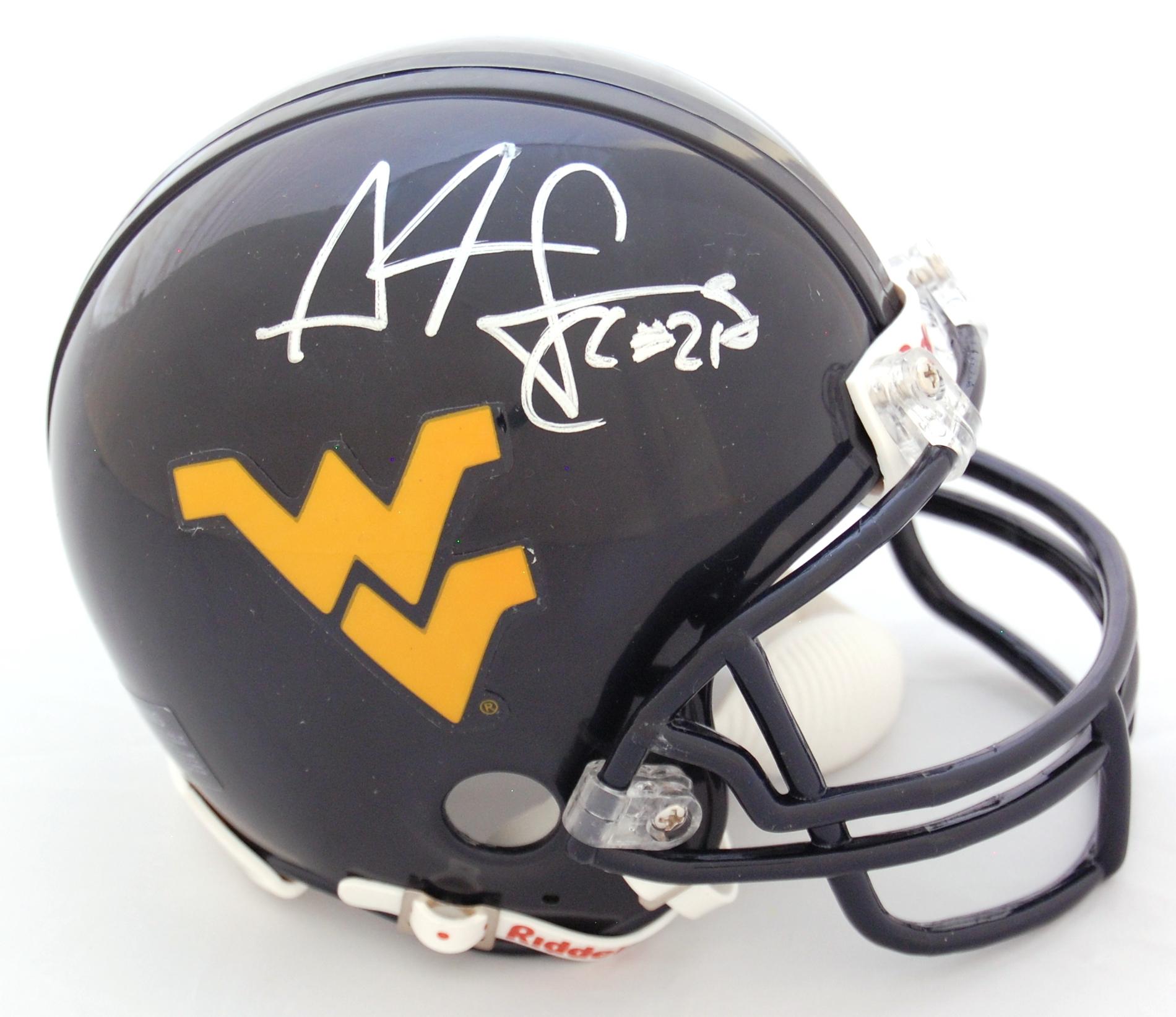 Adam Pacman Jones West Virginia Mountaineers Autographed Mini Helmet