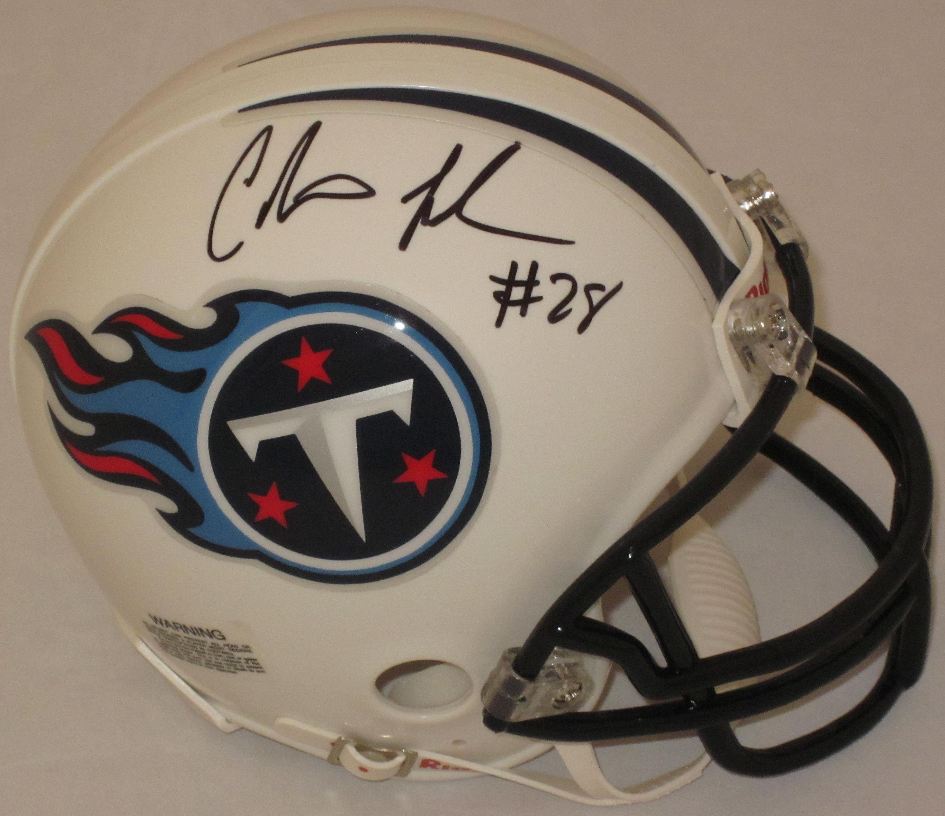Chris Johnson Tennessee Titans Autographed Mini Helmet