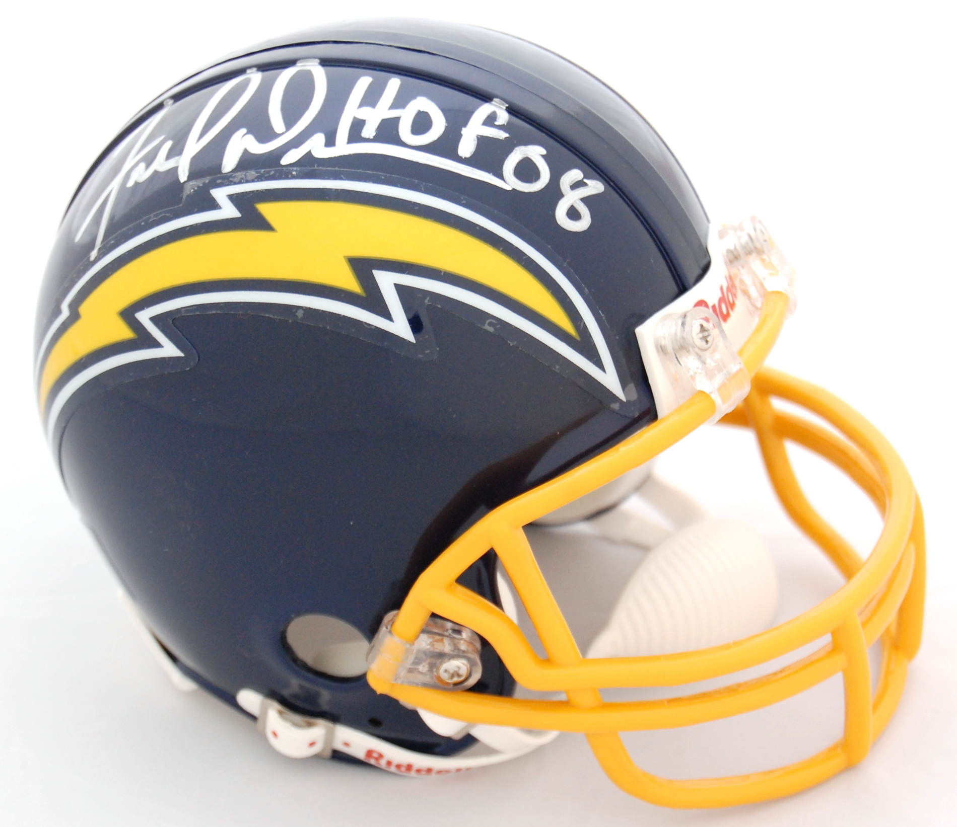 Fred Dean San Diego Chargers Autographed Throwback Mini Helmet