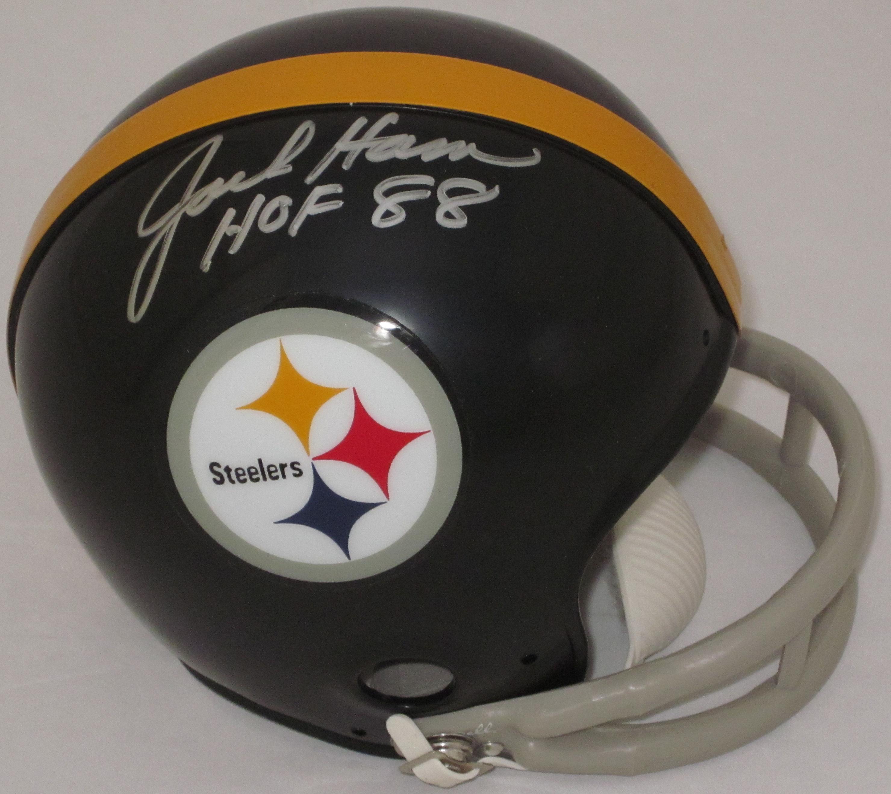 Jack Ham Pittsburgh Steelers Autographed Mini Helmet