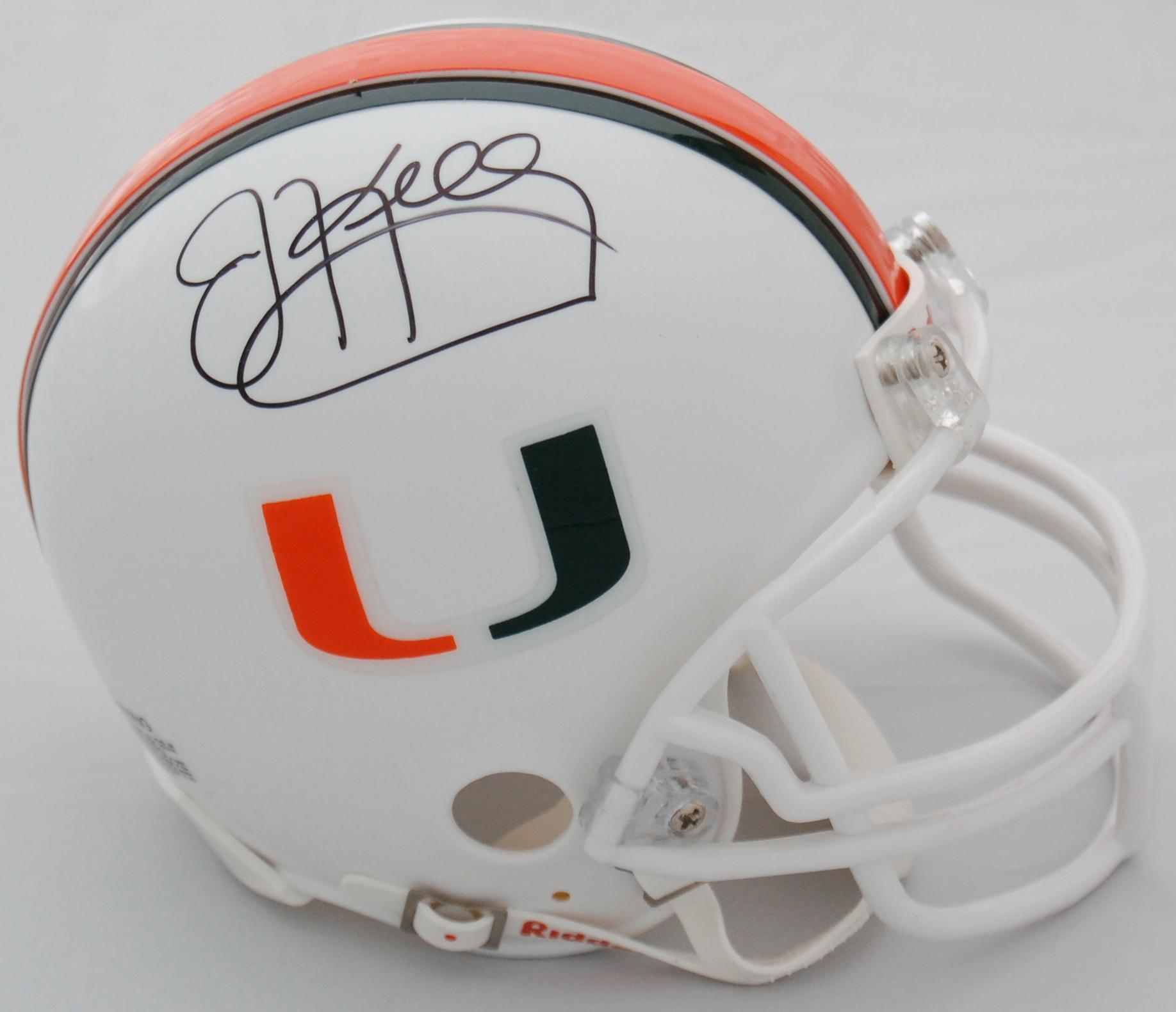 Jim Kelly Miami Hurricanes Autographed Mini Helmet