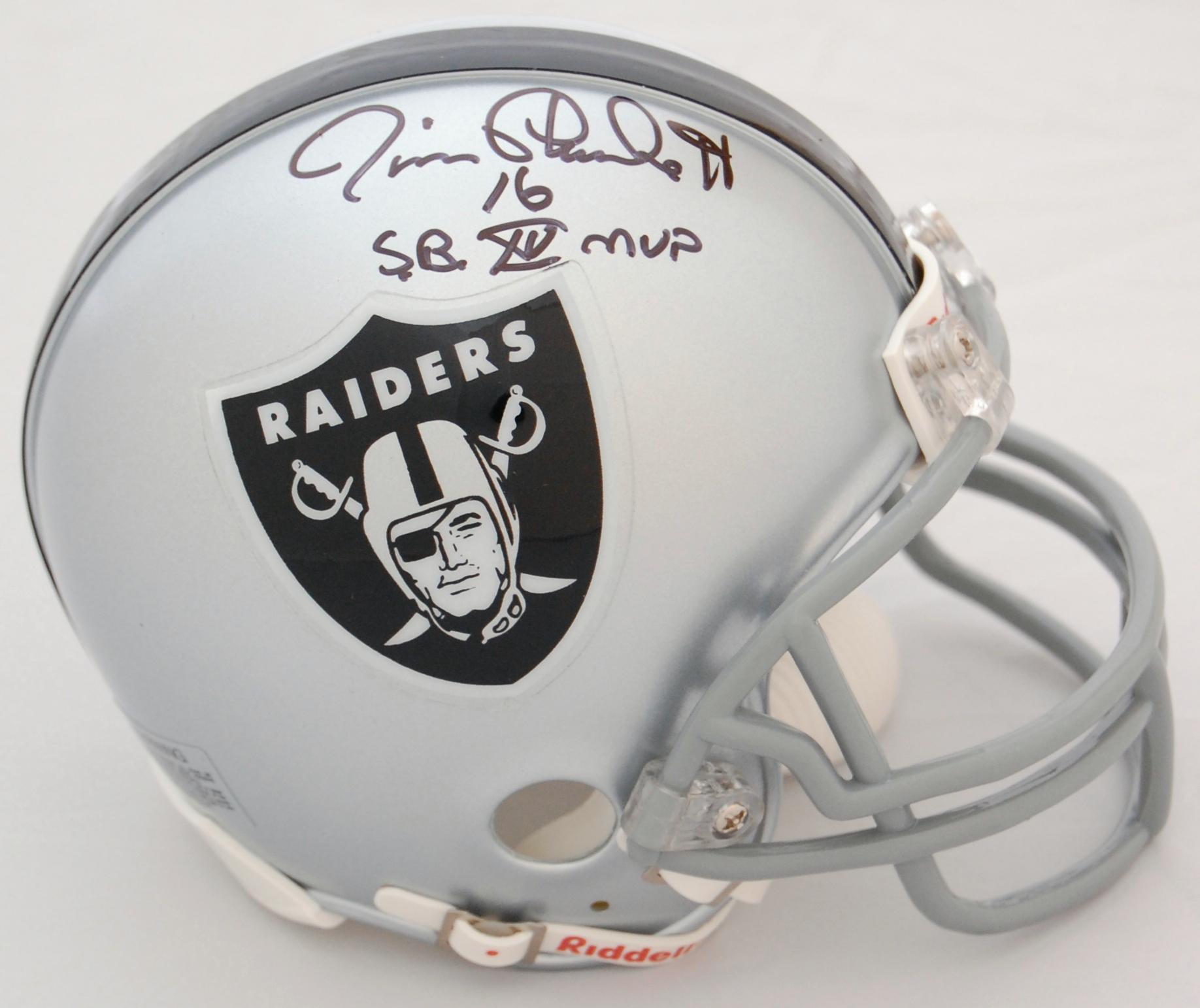 Jim Plunkett Oakland Raiders Autographed Mini Helmet