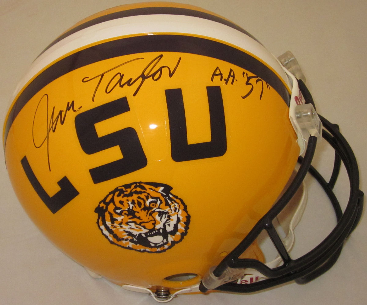 Jim Taylor LSU Tigers Autographed Full Size Authentic Helmet