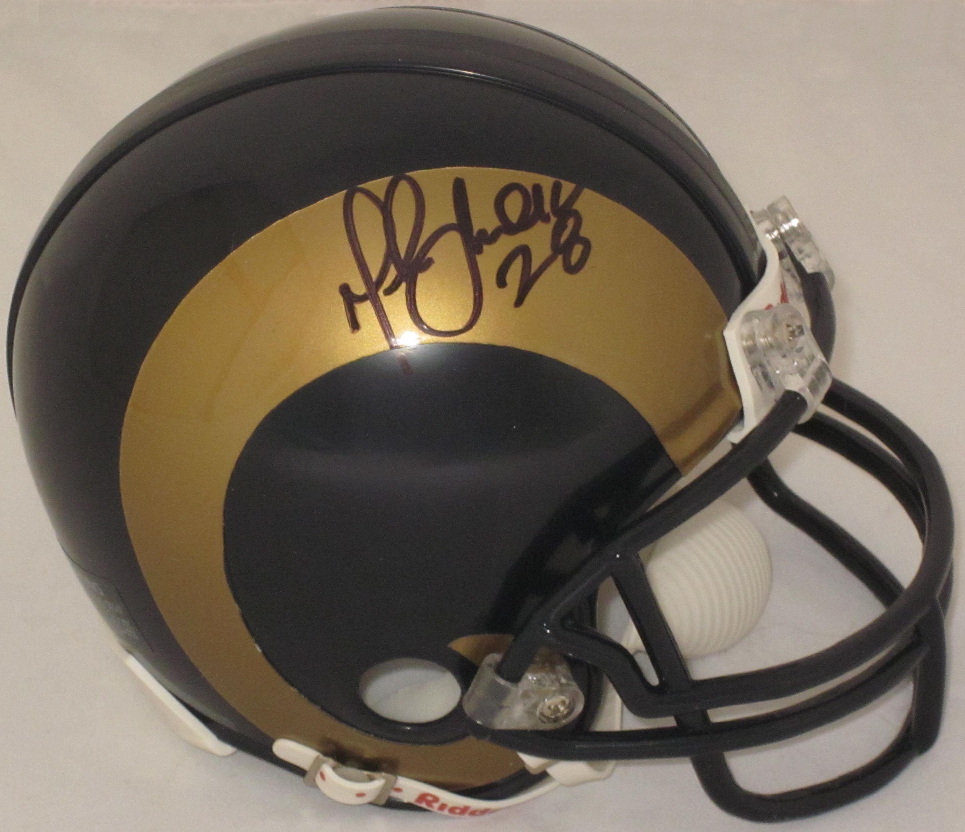 Marshall Faulk St. Louis Rams Autographed Mini Helmet