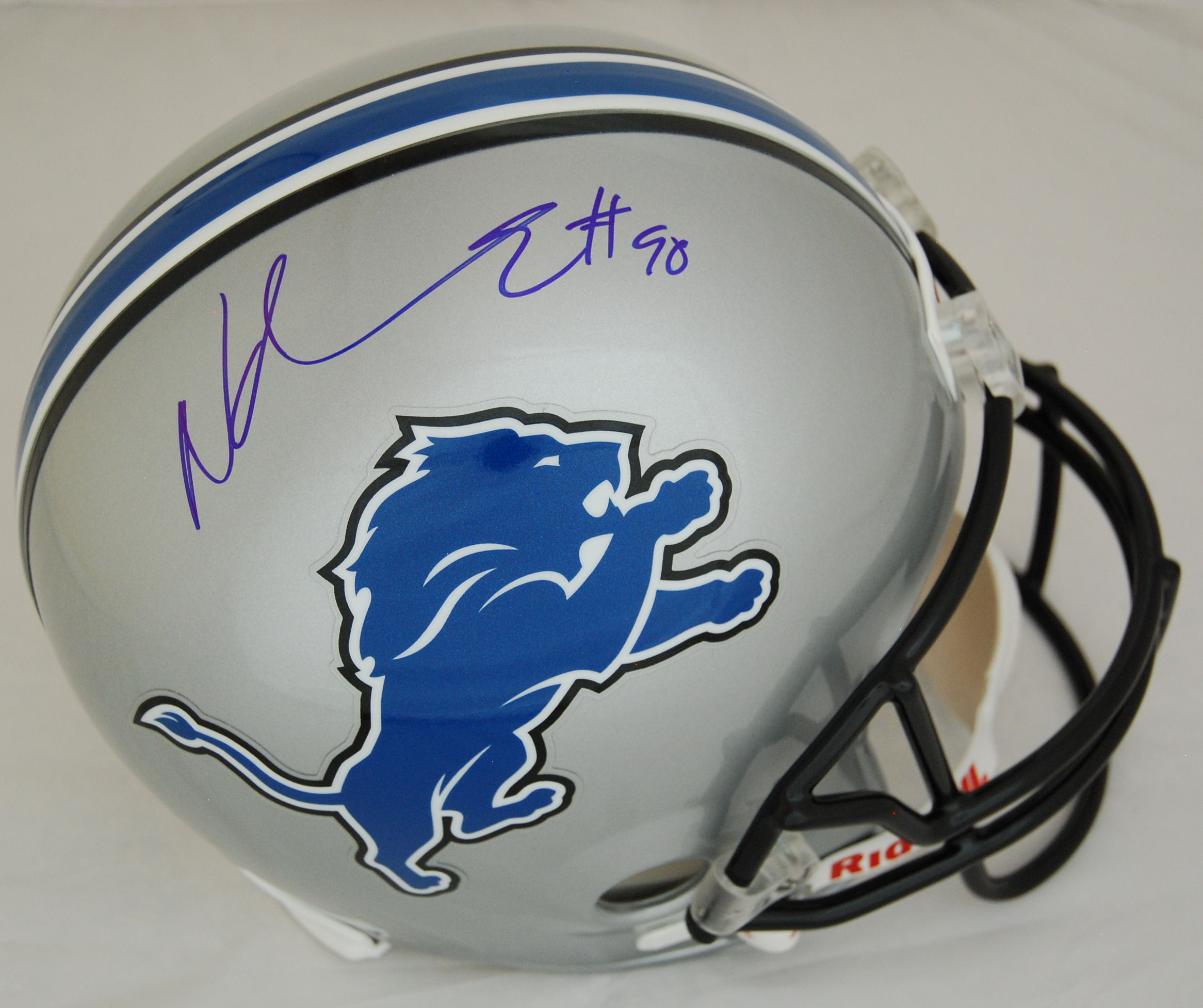Ndamukong Suh Detroit Lions Autographed Full Size Replica Helmet