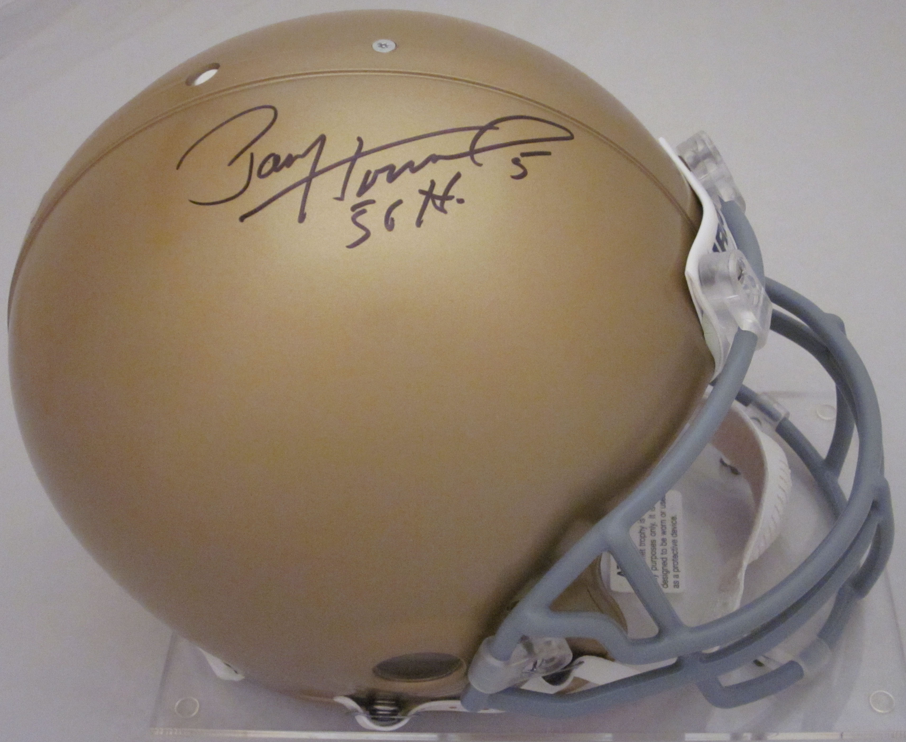 Paul Hornung Notre Dame Fighting Irish Autographed Full Size Authentic Helmet