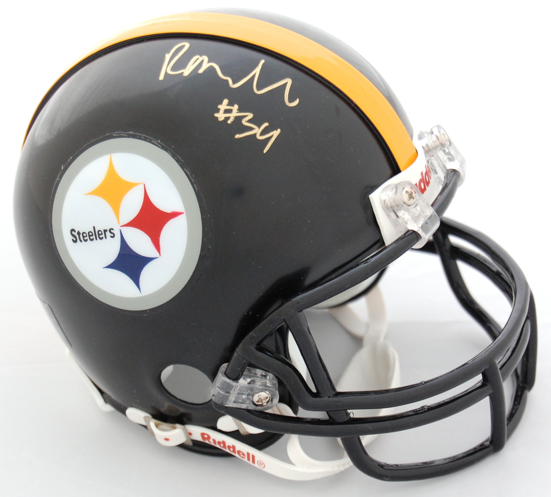 Rashard Mendenhall Pittsburgh Steelers Autographed Riddell Mini Helmet