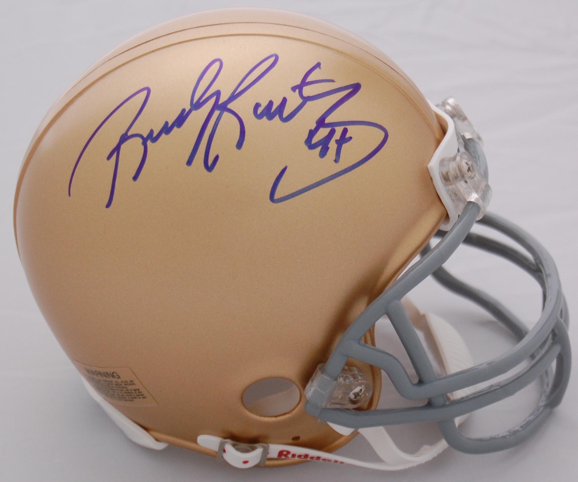 Rudy Ruettiger Notre Dame Fighting Irish Autographed Replica Mini Helmet