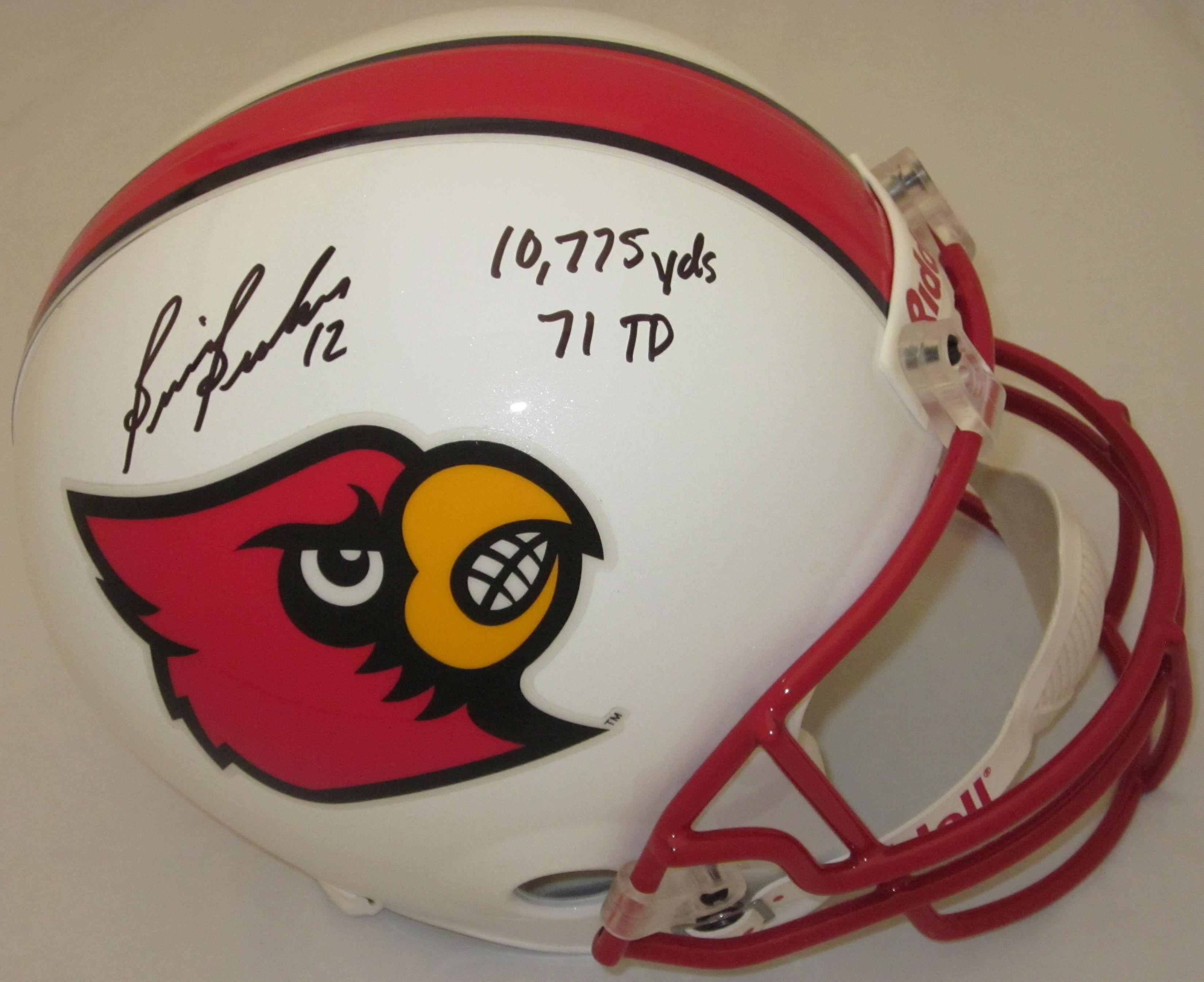 Brian Brohm Louisville Cardinals Autographed Helmet Full Size Replica