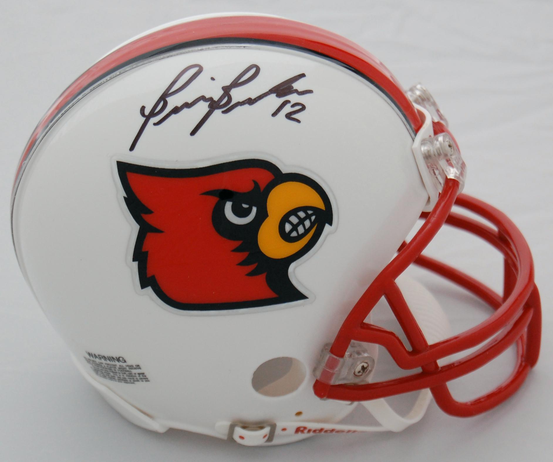 Brian Brohm Louisville Cardinals Autographed Helmet Mini Replica