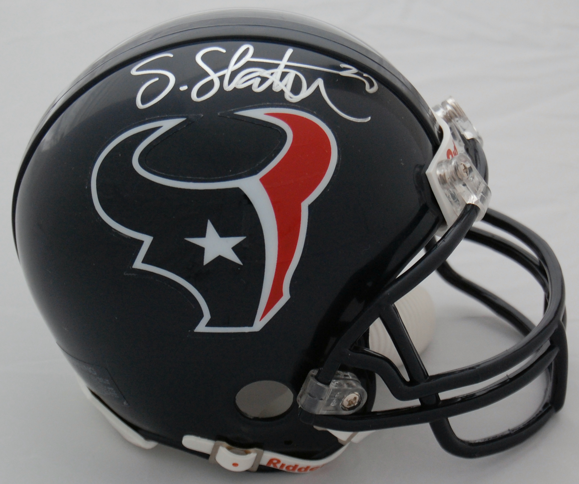 Steve Slaton Houston Texans Autographed Mini Helmet